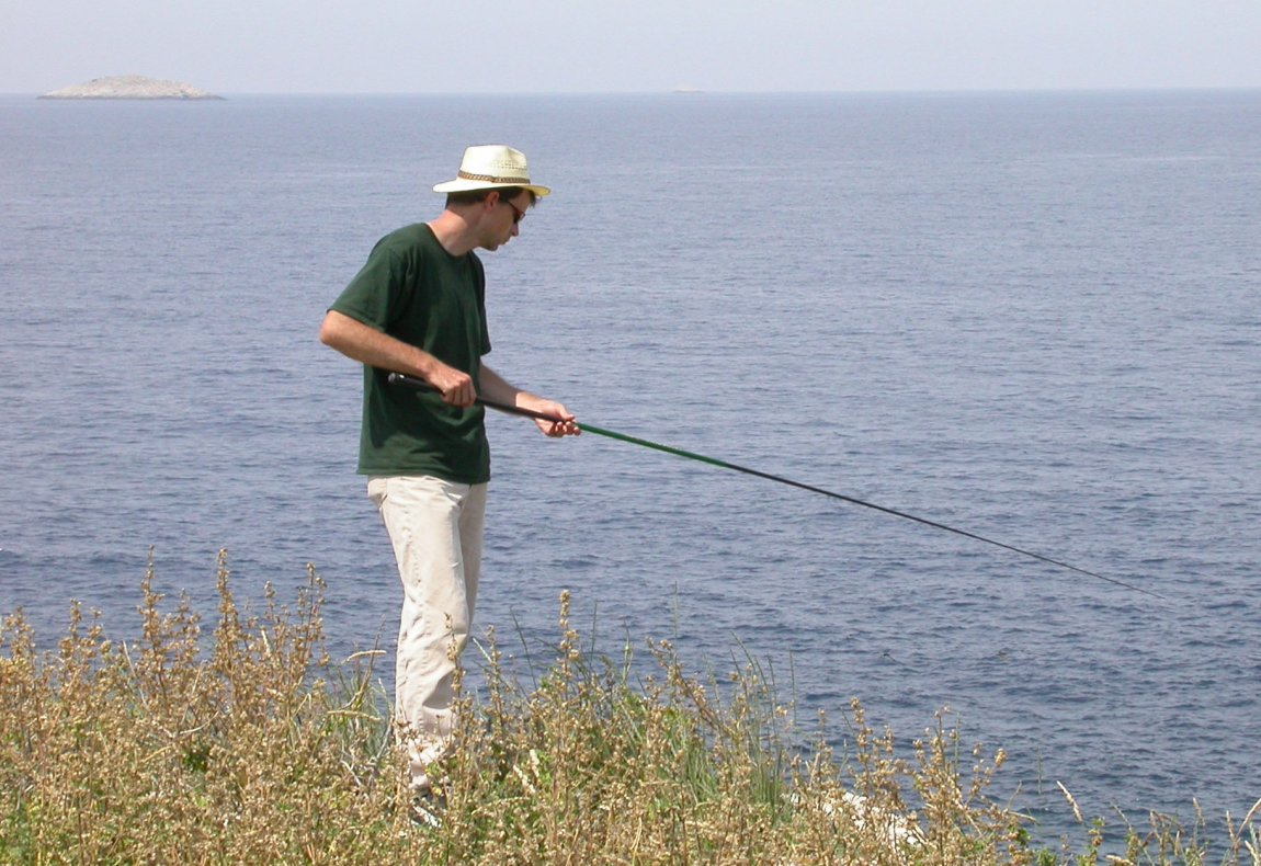 Duncan Irschick catching lizards In Croatia. Image credit: Raoul Van Damme