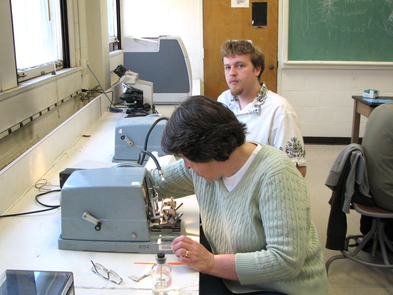 UMass Amherst: Biology Department: Elizabeth Connor in Histology Lab
